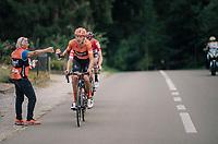 Taco van der Hoorn (NED/Roompot-Nederlandse Loterij) catching his last bidon<br /> <br /> 8th Primus Classic 2018 (1.HC)<br /> 1 Day Race: Brakel to Haacht (193km / BEL)