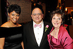From left: Adriana Higgins with Clarence and Ann Cazalot at the Pink Tie Gala at the InterContinental Hotel Saturday March 6,2010. (Dave Rossman Photo)