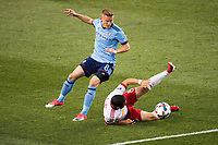HARRISON, NJ - Wednesday June 14, 2017: The New York Red Bulls take on New York City FC at home at Red Bull Arena during fourth round of the 2017 Lamar Hunt US Open Cup.