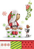 Sharon, CHRISTMAS ANIMALS, WEIHNACHTEN TIERE, NAVIDAD ANIMALES, GBSS, paintings+++++,GBSSC50XCB4,#XA#