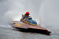 Bob Hampton, GP-182, Xanadu, (1982 Grand Prix class pickle-fork Lauterbach hydroplane)