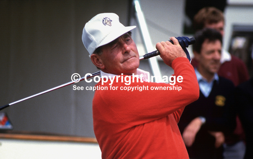 Christy O'Connor, professional golfer, Ireland, Irish Open, Druids Glen, Co Wicklow, 19870701COC2..Copyright Image from Victor Patterson, 54 Dorchester Park, Belfast, UK, BT9 6RJ..Tel: +44 28 9066 1296.Mob: +44 7802 353836.Voicemail +44 20 8816 7153.Skype: victorpattersonbelfast.Email: victorpatterson@me.com.Email: victorpatterson@ireland.com (back-up)..IMPORTANT: If you wish to use this image or any other of my images please go to www.victorpatterson.com and click on the Terms & Conditions. Then contact me by email or phone with the reference number(s) of the image(s) concerned.