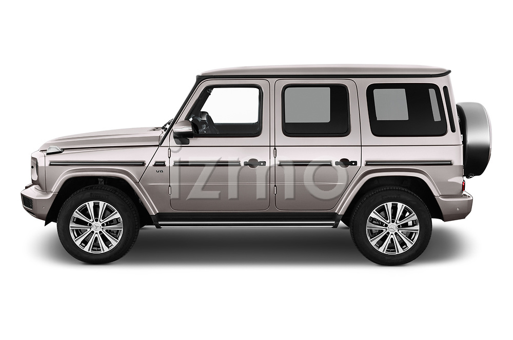 Car Driver side profile view of a 2019 Mercedes Benz G-Class Base 5 Door SUV Side View