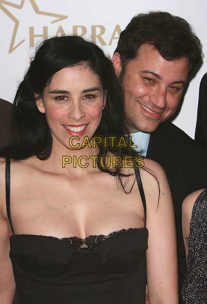 SARAH SILVERMAN & JIMMY KIMMEL.19th Annual Glaad Media Awards held at the Kodak Theatre, Hollywood, California, USA..April 26th, 2008.headshot portrait cleavage veins stretch marks lace .CAP/ADM/CH.©Charles Harris/AdMedia/Capital Pictures