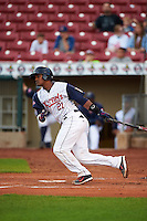 Cedar Rapids Kernels catcher Brian Navarreto (21) at bat during a game against the Kane County Cougars on August 18, 2015 at Perfect Game Field in Cedar Rapids, Iowa.  Kane County defeated Cedar Rapids 1-0.  (Mike Janes/Four Seam Images)