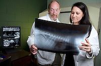 Dr. Gambino and Dr. Shores in Radiology