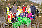 Volunteers who helped tidy up the riverbank near Beaufort bridge on Saturday morning was front row l-r: Philip O'Connor, Ruairi, Roisin Farrell, Jerimiah Landers, Christina Farrell. Back row: Colin Denman, Prioncias o'Connor, Mags Campbell, Fiona Landers, Eileen O'Neill and Paul Farrell