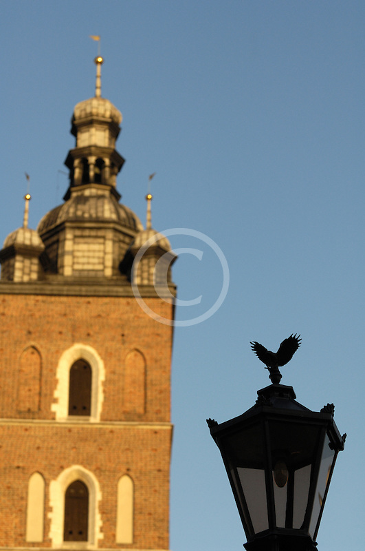 Poland, Krakow, St. Mary's Church, Rynek Glowny, Grand Square