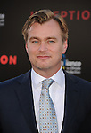 "HOLLYWOOD, CA. - July 13: Director Christopher Nolan  arrives to the ""Inception"" Los Angeles Premiere at Grauman's Chinese Theatre on July 13, 2010 in Hollywood, California."