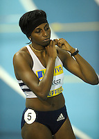 Photo: Ady Kerry/Richard Lane Photography.. Aviva European Trials and UK Championships, 15/02/2009..Donna Fraser before the 200m final.