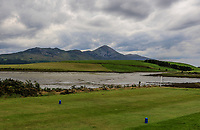 A view of the 15th tee with Croagh Patrick in the back ground during the Preview of the AIG Cups & Shields Connacht Finals 2019 in Wesport Golf Club, Westport, Co. Mayo on Thursday 8th August 2019.<br /> <br /> Picture:  Thos Caffrey / www.golffile.ie<br /> <br /> All photos usage must carry mandatory copyright credit (© Golffile | Thos Caffrey)