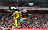 Francis Coquelin of Arsenal during the Carabao Cup match between Arsenal and Norwich City at the Emirates Stadium, London, England on 24 October 2017. Photo by Carlton Myrie.