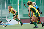 GER - Mannheim, Germany, May 24: During the U16 Girls match between Australia (green) and Germany (white) during the international witsun tournament on May 24, 2015 at Mannheimer HC in Mannheim, Germany. Final score 0-6 (0-3). (Photo by Dirk Markgraf / www.265-images.com) *** Local caption *** Annabelle Scutt #14 of Australia