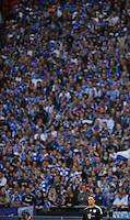 FUSSBALL   1. BUNDESLIGA   SAISON 2011/2012    6. SPIELTAG FC Schalke 04 - FC Bayern Muenchen                       18.09.2011 Torwart Manuel NEUER (Bayern) steht vor der Schalker-Fantribuene