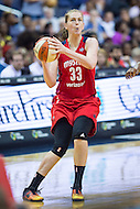Washington, DC - July 22, 2016: Washington Mystics center Emma Meesseman (33) in action during game against the Los Angeles Sparks at the Verizon Center in Washington, DC. (Photo by Phil Peters/Media Images International)
