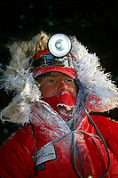 1992 Portrait of Iditarod Musher Terry Adkins @ Ophir AK Winter -50 degrees