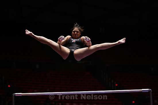 Salt Lake City - Nina Kim. University of Utah gymnastics Red Rocks Preview, Friday, January 4, 2008 at the Huntsman Center..; 1.04.2008