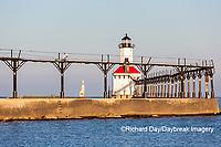 64795-02819 Michigan City Lighthouse & Pier Michigan City, MI