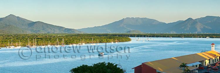 View across Trinity Inlet.  Cairns, Queensland, Australia