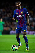 9th September 2017, Camp Nou, Barcelona, Spain; La Liga football, Barcelona versus Espanyol; Nelson Semedo of FC Barcelona controls the ball