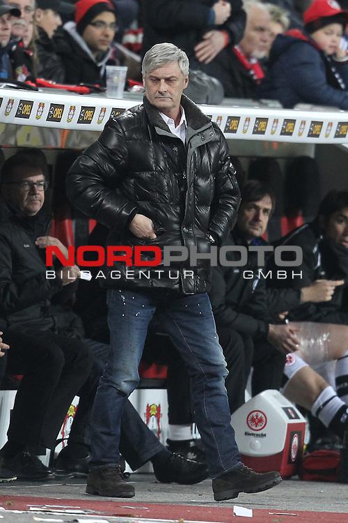 15.12.2013, BayArena, Leverkusen, GER, 1.FBL, Bayer 04 Leverkusen vs Eintracht Frankfurt, im Bild<br /> Armin Veh (Trainer Frankfurt)<br /> <br /> Foto &copy; nordphoto / Mueller