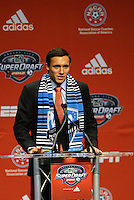 Andrew Wenger first pick of first round by Montreal Impact... The 2012 MLS Superdraft was held on January 12, 2012 at The Kansas City Convention Center, Kansas City, MO.
