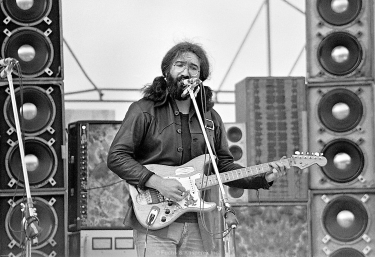 Jerry Garcia, DesMoines, Iowa State Fairgrounds, May, 1973.