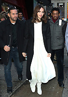 NEW YORK, NY- DECEMBER 3: Felicity Jones seen at Good Morning America promoting The Aeronauts on December 03, 2019 in New York City. Credit: RW/MediaPunch