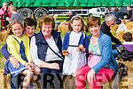 Briadh O'sullivan, Moreen, O'sullivan, Joan coffey, Aoibhín O'Sullivan, Linda Gannon Beaufort and Kilgobnet at the SK Ploughing championships in Fossa on Sunday