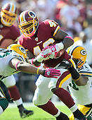 Washington Redskins running back Ryan Torain (46) carries the ball against the Green Bay Packers at FedEx Field in Landover, Maryland on Sunday, October 10, 2010.  The Redskins won the game 16 - 13..Credit: Ron Sachs / CNP