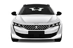Car photography straight front view of a 2019 Peugeot 508 GT-Line 5 Door Wagon