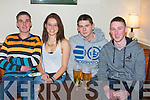 CRAIC: Adrian Buckley, Lea Pluinger, Stephen Egan and Barry Horgan having a great time as tjhe NewYear Eve approaches in Tthe Abbeydorneey Complex Centre ( Monday nightl)-r: Padraig Buckl;ey, Lea Pluinger, Stephen Egan and Barry Horgan.