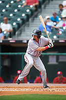 Syracuse Chiefs third baseman Jose Lozada (22) at bat during a game against the Buffalo Bisons on July 31, 2016 at Coca-Cola Field in Buffalo, New York.  Buffalo defeated Syracuse 6-5.  (Mike Janes/Four Seam Images)