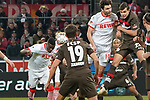 08.02.2019, RheinEnergieStadion, Koeln, GER, 2. FBL, 1.FC Koeln vs. FC St. Pauli,<br />  <br /> DFL regulations prohibit any use of photographs as image sequences and/or quasi-video<br /> <br /> im Bild / picture shows: <br /> 3:1 fuer Koeln und wieder heisst der Torschuetze Jhon Córdoba (FC Koeln #15),   <br /> <br /> Foto © nordphoto / Meuter
