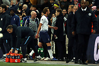 Harry Kane of Tottenham Hotspur walks straight off the pitch after Tottenham Hotspur vs Manchester City, Premier League Football at Wembley Stadium on 29th October 2018