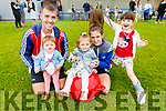 Danny O'Sullivan, Leah Prendergast, Amelia O'Sullivan, Kelly and Caoimhe Fitzgerald enjoying the Kerins O'Rahillys family fun day on Sunday at the club grounds.