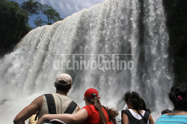 Iguazu falls, one of the main touristic destinations of Argentina, in the northern province of Misiones