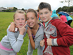 Lauren McGuirk, Chloe Fitzpatrick and Shane Kierans pictured at Moneymore sports day. Photo: www.pressphotos.ie