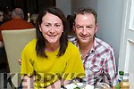 Maire and Tom Breen, Killfynn, who celebrated their 17th wedding anniversary in Bella Bia restaurant, Tralee on Saturday night last.