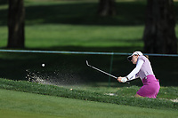 Kim Kaufman hits the ball out of the sand during Round 3 at the ANA Inspiration, Mission Hills Country Club, Rancho Mirage, Calafornia, USA. {03/31/2018}.<br />