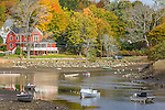 Fall foliage on the Ipswich River in Ipswich, Massachusetts, USA