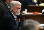 Nevada Assemblyman Joe Hogan, D-Las Vegas, works on the Assembly floor at the Legislative Building in Carson City, Nev., on Wednesday, Feb. 27, 2013..Photo by Cathleen Allison