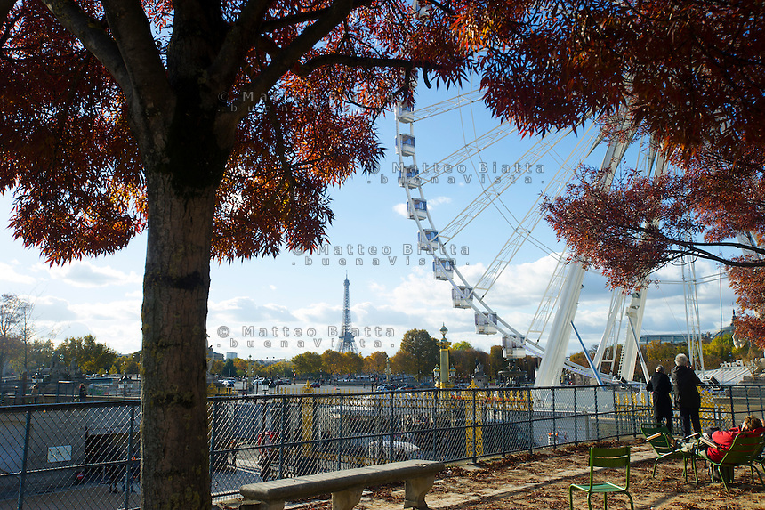 Parigi nella foto Torre Eiffel geografico Parigi 05/11/2016 foto Matteo Biatta<br /> <br /> Paris in the picture Eiffel tower geographic Paris 05/11/2016 photo by Matteo Biatta