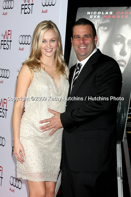 "Ambyr Childers & Fiance Randal Emmett .Bad Lieutenant: Port of Call New Orleans"" AFI Festival Screening.Grauman's Chinese Theater.Hollywood,  CA.November 4, 2009.©2009 Kathy Hutchins / Hutchins Photo."