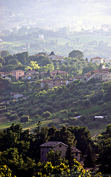 On the slopes of Cingoli, Italy