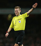 Referee Mike Jones in action<br /> <br /> Barclays Premier League- Arsenal vs Leicester City  - Emirates Stadium - England - 10th February 2015 - Picture David Klein/Sportimage
