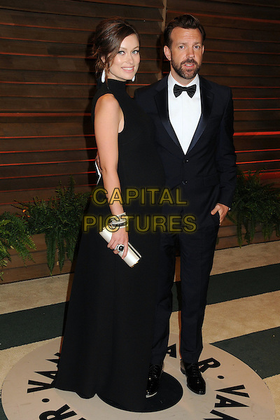 02 March 2014 - West Hollywood, California - Olivia Wilde, Jason Sudeikis. 2014 Vanity Fair Oscar Party following the 86th Academy Awards held at Sunset Plaza.  <br /> CAP/ADM/BP<br /> &copy;Byron Purvis/AdMedia/Capital Pictures