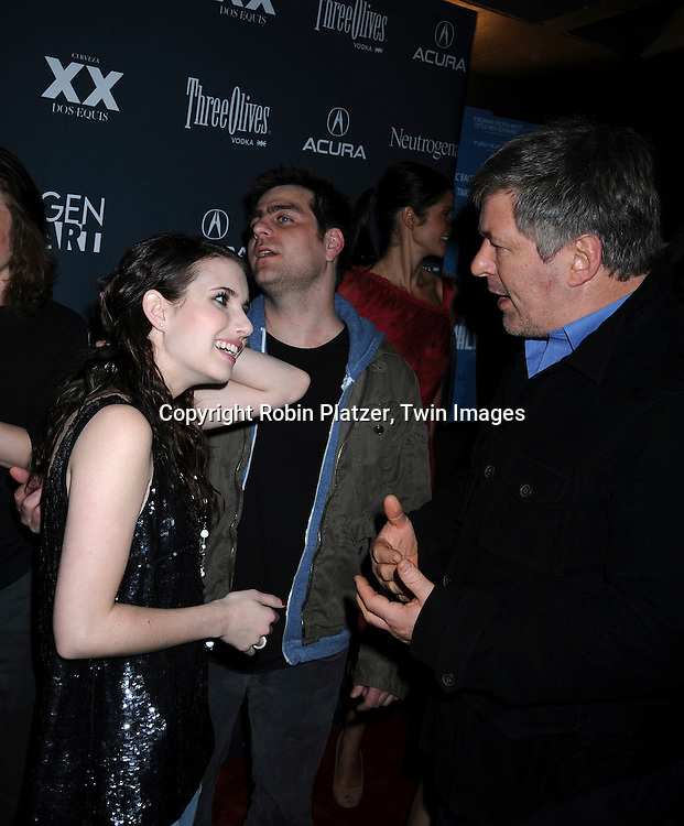 Emma Roberts and Alec Baldwin
