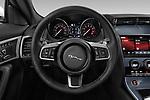 Car pictures of steering wheel view of a 2019 Jaguar F-Type R-Dynamic 2 Door Coupe Steering Wheel