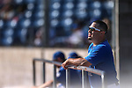 Wildcats Coach Ryan Gonzalez works a college baseball game at Western Nevada College in Carson City, Nev., on Thursday, March 5, 2015. <br /> Photo by Cathleen Allison/Nevada Photo Source